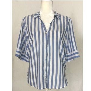 NWT J.Crew Striped Button-Up Shirt | M*